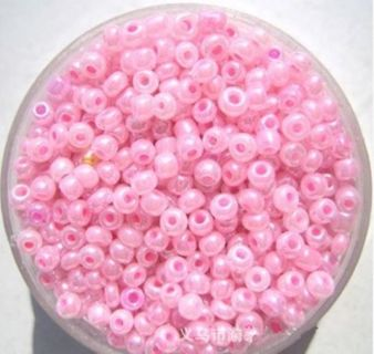 200PCS 2mm Pink Round Czech Glass Seeds Loose Spacer Bead Jewelry