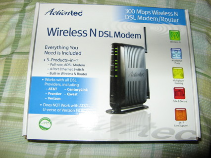 Free: Actiontec GT784WN Wireless Modem Router Brand New In