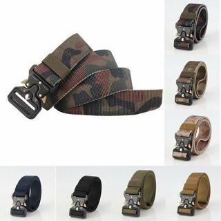 Military Equipment Army Tactical Belt Thicken Metal Buckle Nylon Belt New style~
