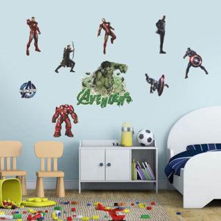 DIY Comics Marvel The Avengers Wall Sticker Team Hulk Decal Vinyl Art Home Decor