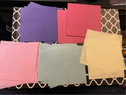 20pc Origami Textured Paper 4 x4 in.