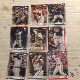 2019 Topps update rookie lot of 9
