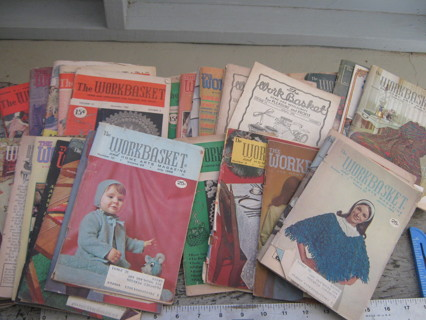30+ Vinyage WorkBasket & Home Art Magazines 1940's-60's