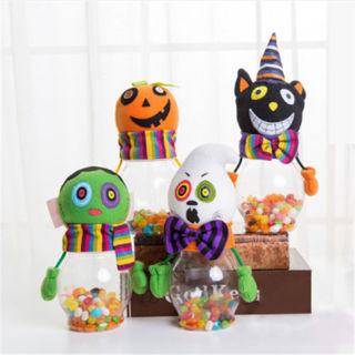 Halloween Case Candy Jar Holder Organizer Home Party Decoration