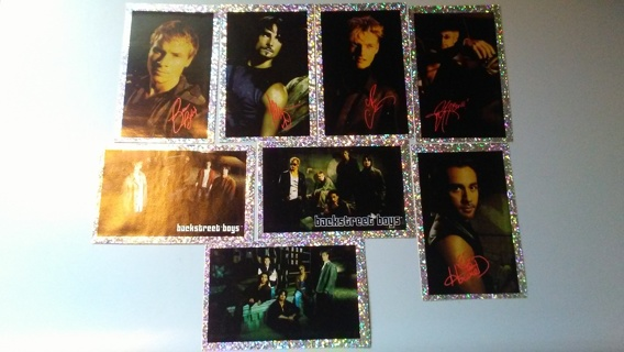 LOT OF 8 VINTAGE BACKSTREET BOY STICKERS