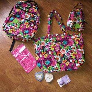 Va Va Bloom Vera Bradley Backpack Tote Lunchbox EOS Brighton Earrings 31 Scarf NEW