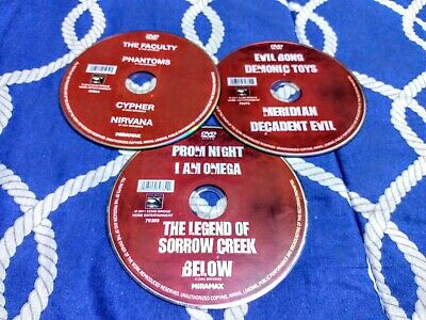 12 Movies on 3 DVDs - discs only - Rated R + unrated