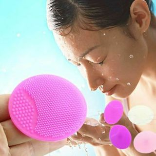 2PCS Silicone Wash Pad Face Exfoliating Blackhead Facial Cleansing Brush Tools