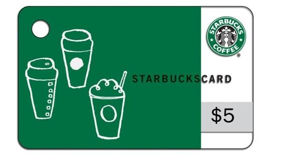 Starbucks $5 Gift Card