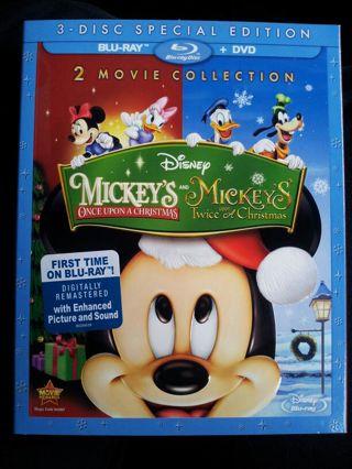 brand new disney mickeys once upon a christmas and twice upon a - Mickey Mouse Once Upon A Christmas