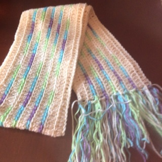 Hand crocheted Scarf .