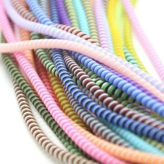 1.5M Spiral Phone USB Data Charging Cable Wire Cord Wrap Protector DIY Winder