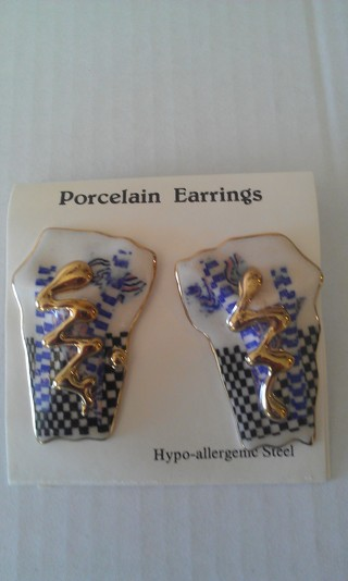 porcelian earrings