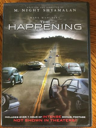 The Happening (DVD, 2009, Checkpoint Sensormatic Widescreen) M. Night Shyamalan, Horror, Gore