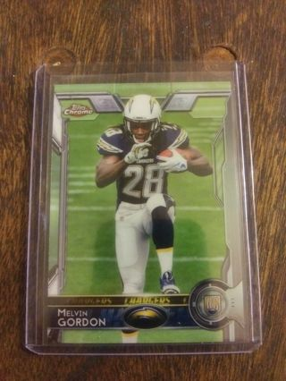 2015 TOPPS CHROME COLOR ROOKIE LOT OF MELVIN GORDON . BASE , X-FRACTOR , ORANGE, PURPLE AND PINK