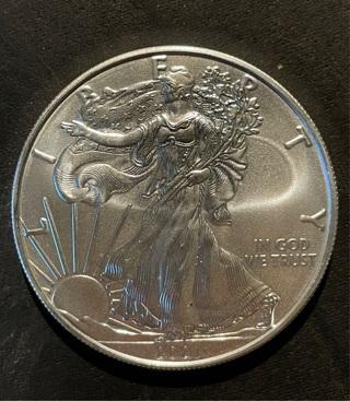 2021 American Eagle Brilliant Uncirculated Once Fine Silver **BONUS COINS**