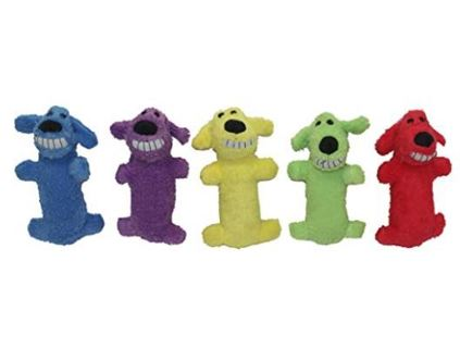 Multipet Loofa Dog Plush Dog Toy (1 Piece Colors May Vary)
