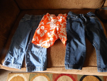 Boy Jeans and Bathing Suit Size 2T