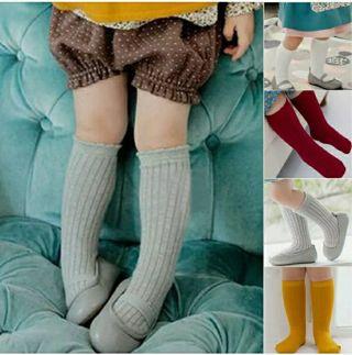 Baby Kids Girls Knee High Soft Socks Toddler Cotton Rich Long School Stocking
