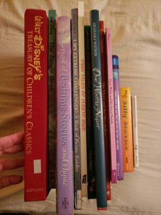 13 children's books Disney, I spy, bedtime stories, Christmas, dr. Seuss +