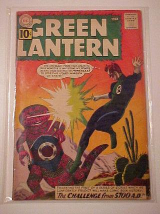 Green Lantern #8 (FN-6) DC Comics 1961 Silver Age 1st 5700 A.D. Tale!