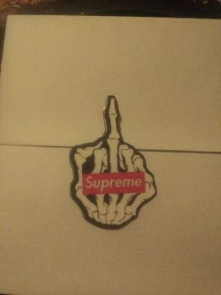 Supreme skeleton flipping middle finger sticker plus freebies NEW LOWER PRICE!!!