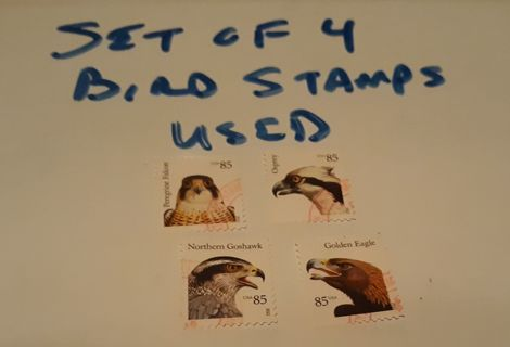 SET OF FOUR BIRD STAMPS USED