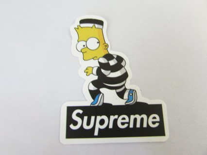 Bart simpson supreme sticker helmet car skateboard business crafts