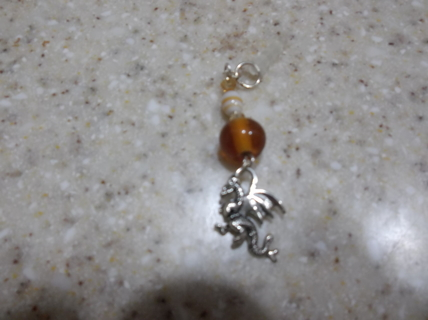 Dragon Dust Plug w/ Amber Colored Bead