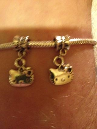 Hello Kitty(2 euro bead charms for pandora or pandora like bracelets)