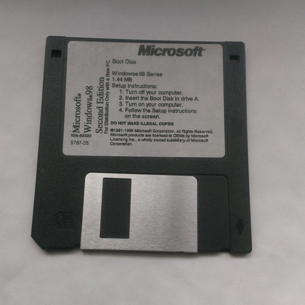 Free: Microsoft Windows 98 Second Edition Boot Disk 3 5