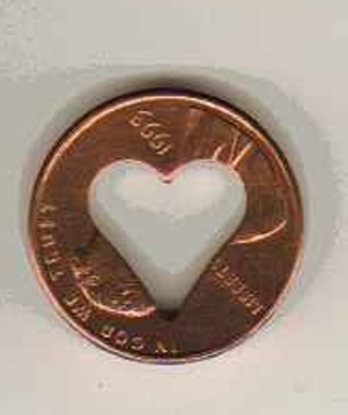 Free: Heart Punched Lincoln Cent (Penny) - Coins - Listia