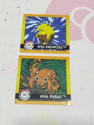 Pokemon nintendo stickers vintage