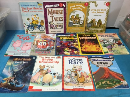 L403 LOT OF 13 CHILDRENS LEARN TO READ BOOKS STEP 2 GRADES 1-3 ASSORTED