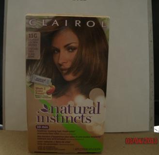 Clairol Natural Instincts 11g Amber Shimmer Lightest Golden Brown