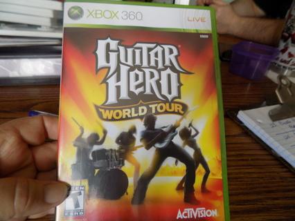 X Box 350 LIVE Guitar hero World Tour