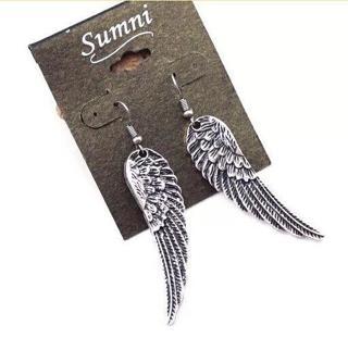 RETRO Angel Wings Tibet Silver Drop Dangle Earrings ALLOY Jewelry Vintage HS65