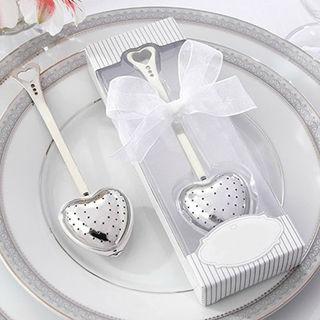 Heart Spoon Tea Infuser Filter Wedding Souvenir Bridal Shower Favor Gift Exotic