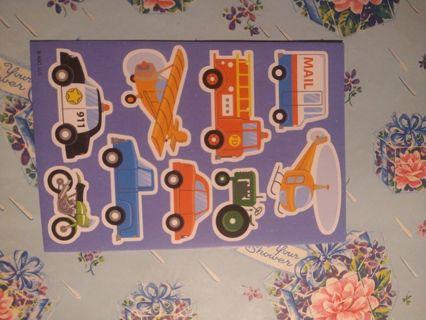 Cars & Trucks Sticker Sheet
