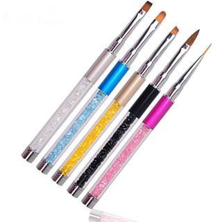UV Gel Nail Art Tips Crystal Acrylic Painting Drawing Pen Polish Brush Pen Set