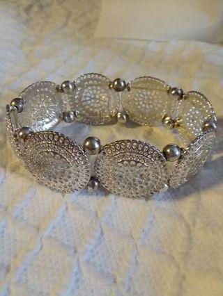 Silver colored bracelet