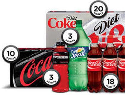 6 bottle caps of coke rewards.