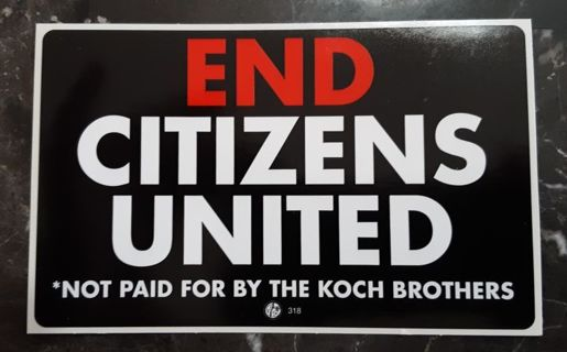 Collectable Political Decal: End Citizens United Decal