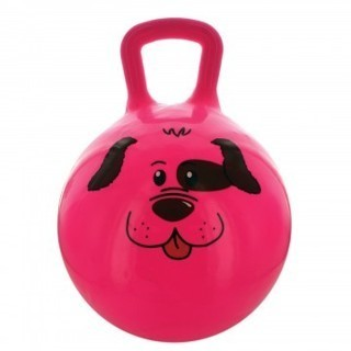 NEW - BOUNCING HOPPER BALL with Dog Design - Great Christmas Gift for Ages 3+ PINK COLOR