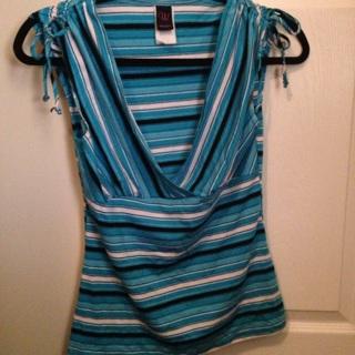 Blue Stripe Blouse(medium)