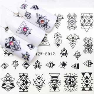 1 pcs Skull Halloween Plant Nail Sticker Water Decals Women White Flower Cat Butterfly Transfer Na
