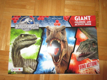 Brand New Jurassic World Giant Coloring & Activity Book