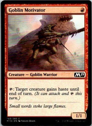 Goblin Motivator Magic The Gathering 2019 Core Card Mint
