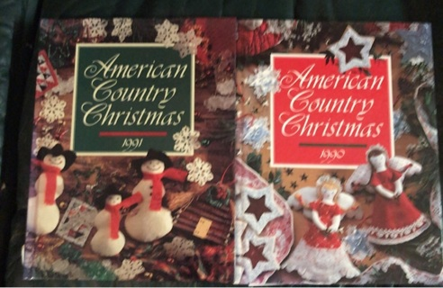 American Country Christmas hardbound craft cook books
