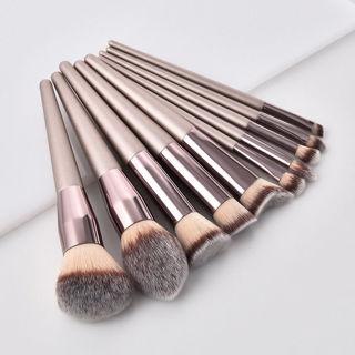 Pro Face Foundation Cosmetic Eyebrow Eyeshadow Brush Makeup Brush Set Tools
